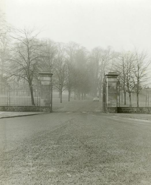 Entrance to Wollaton Hall off Middleton Boulevard, Nottingham, 1960s