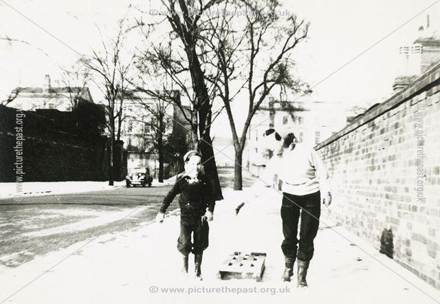 Snow Scene, North Road, The Park, Nottingham, 1955