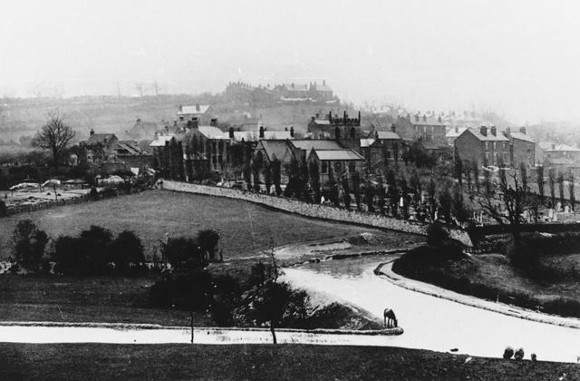 General View, St Giles' Church, and the Chesterfield Canal