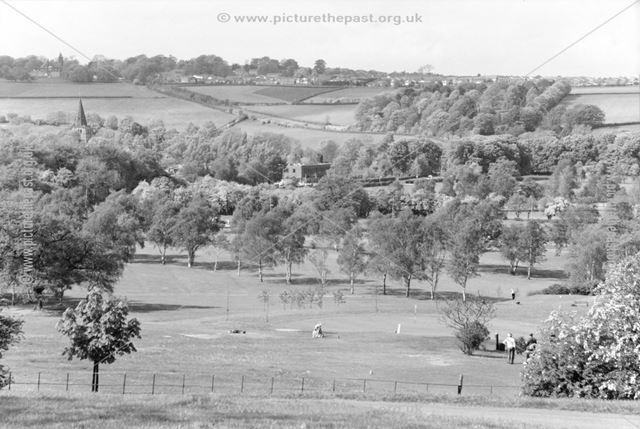 Looking from Renishaw Hall towards Eckington