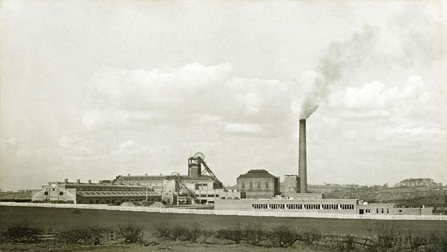 'The Modernisation of Williamthorpe Colliery 1938-40' - General view of the Colliery, after improvem