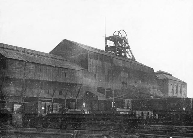 'The Modernisation of Williamthorpe Colliery 1938-40' - Old railway sidings and pit top sheds, befor