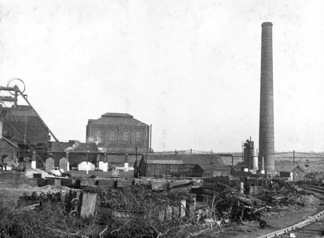 'The Modernisation of Williamthorpe Colliery 1938-40' - General view of the old colliery, before imp