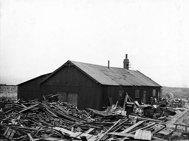 'The Modernisation of Williamthorpe Colliery 1938-40' - Joiners shop and sawmill, before improvement