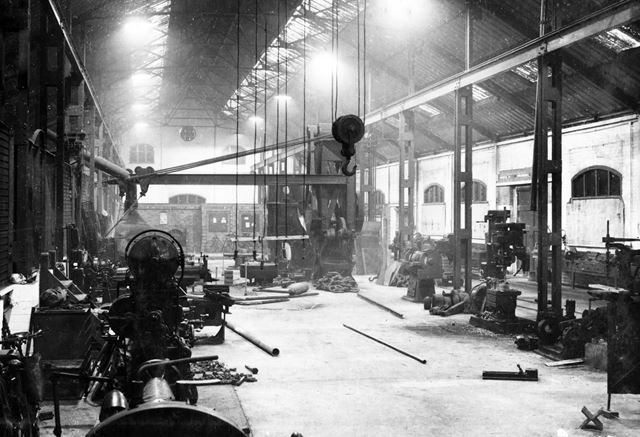 'The Modernisation of Williamthorpe Colliery 1938-40' - Engineering shop (with machine tools), after