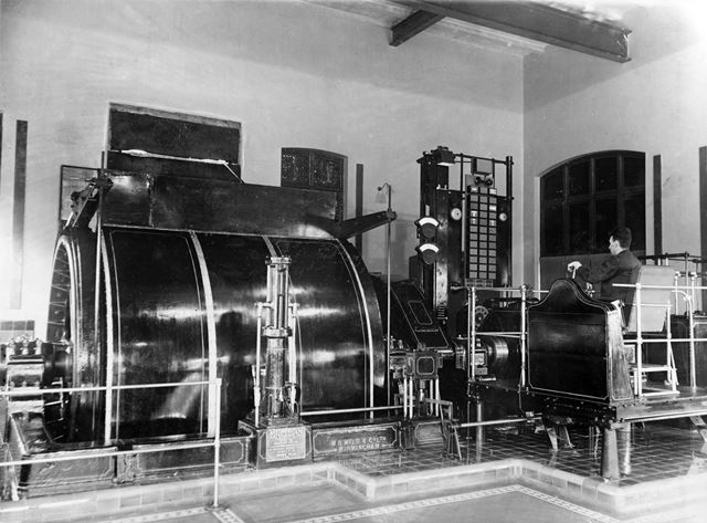 'The Modernisation of Williamthorpe Colliery 1938-40' - No 1 pit's new electric winders, after impro