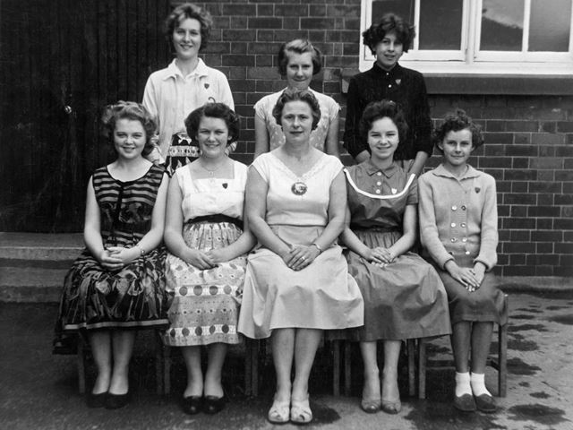 Headmistress with School Prefects, Heath County School, circa 1960s?
