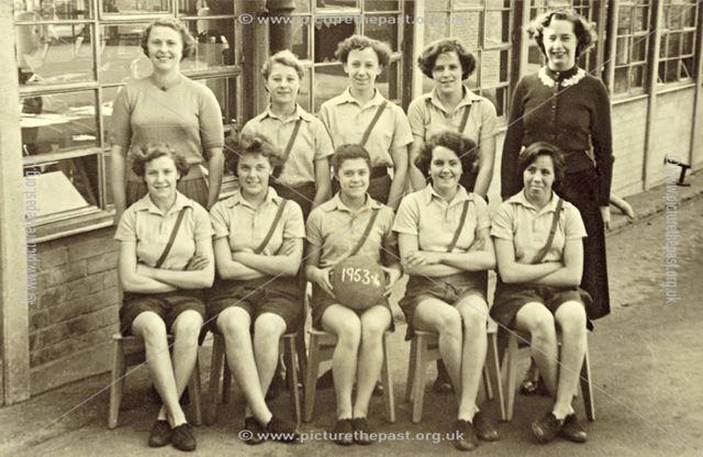 Junior Netball Team, Heath County School, 1953-54