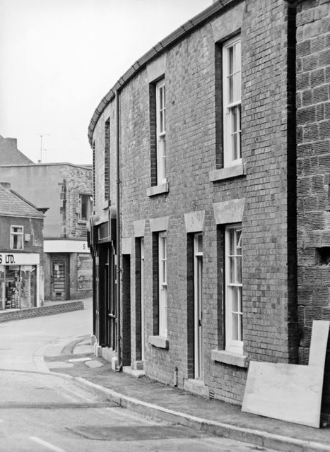 Renovated stone built properties on Market Street, Eckington, c 1980?