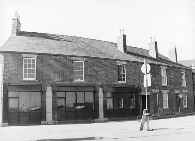 Renovated shop fronts, Market Street, Eckington, c 1980?