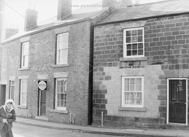 Renovation of stone built properties on Market Street, Eckington, c 1980?