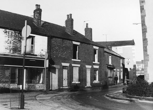 View of Market Street prior to renovation of properties, Eckington, c 1980?