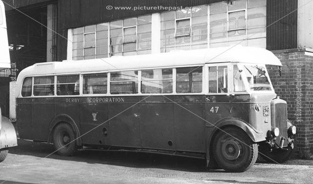Derby Corporation motor bus No.47