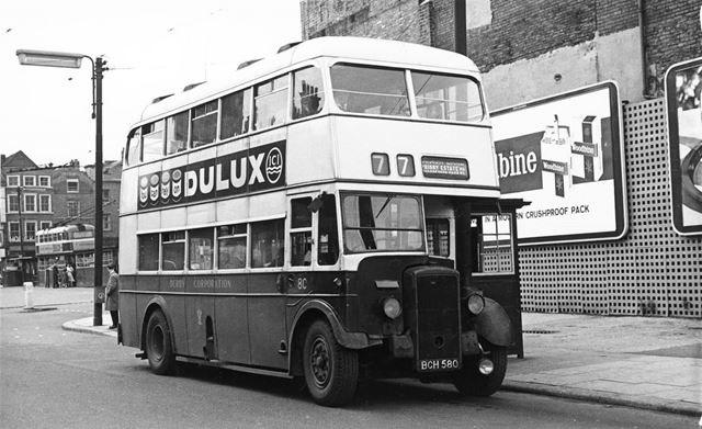 Derby Corporation motor bus No.80