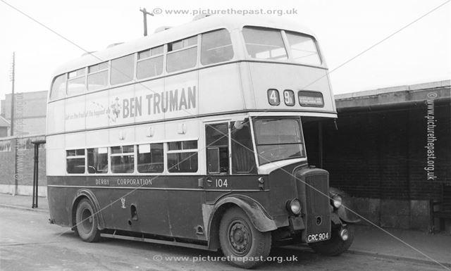 Derby Corporation motor bus No.104