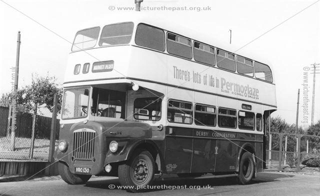Derby Corporation motor bus No.130