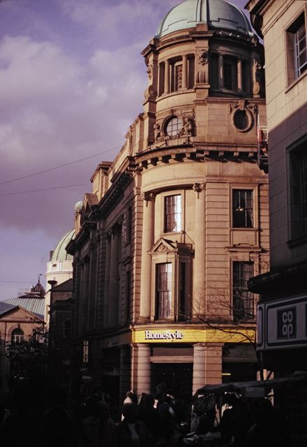 Classical facade of the Co-operative building, East Street
