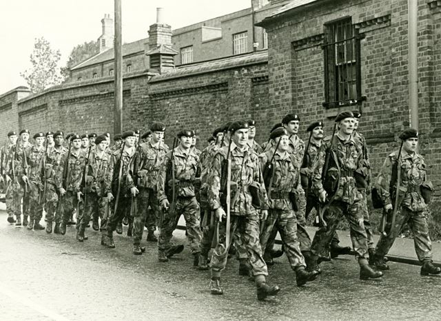 Territorial Army March past Normanton Barracks