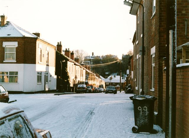 Moss Street in the snow