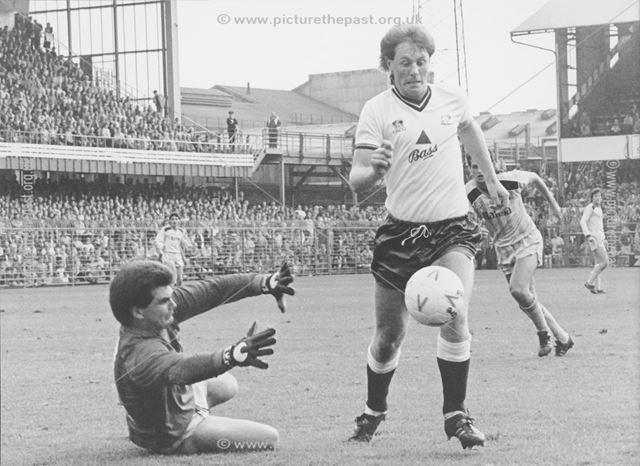 Andy Garner Striker for Derby County Football Club (1984-88), 1985