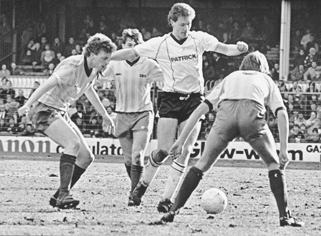 Andy Garner Striker for Derby County Football Club (1984-88), 1984