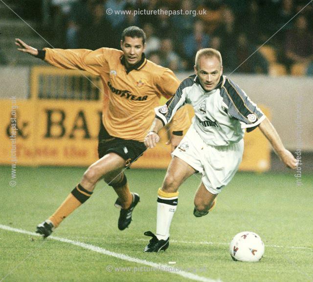 David Preece - Derby County Football Club midfielder. Derby County v Wolves, Wolverhampton, 1995