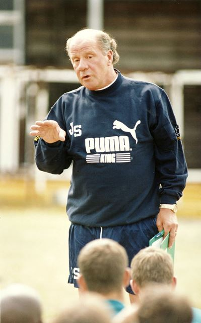 Derby County Football Club Manager Jim Smith's First Training Session, Baseball Ground, Derby,  1995