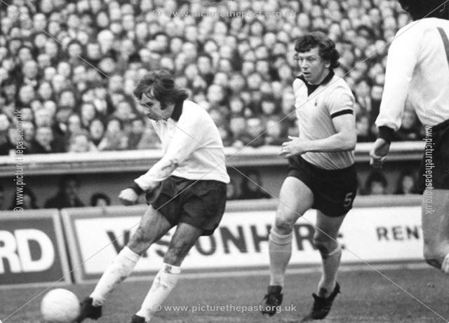 Jeff Bourne - Derby County Football Club striker between 1969-77, 1974