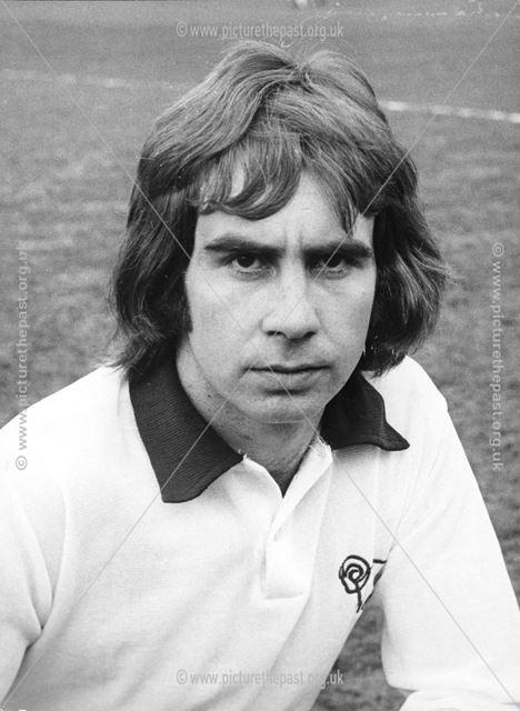 Jeff Bourne - Derby County Football Club striker between 1969-77, c 1975