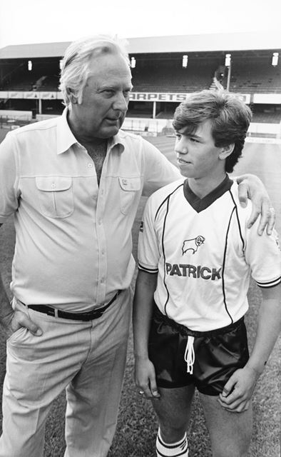 Peter Taylor - Derby County Football Club Manager with Neil Bailey