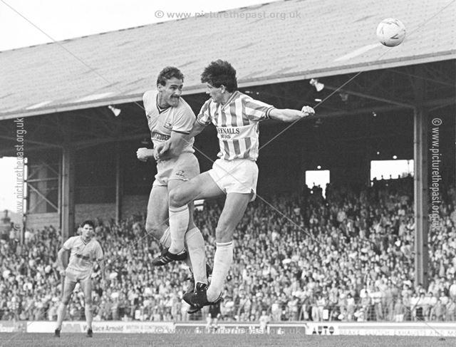Richard Pratley - Derby County Football Club defender (1983-86) Derby v Huddersfield
