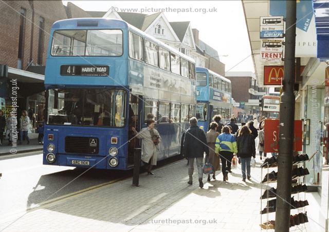 Buses in St Peter's Street, Derby
