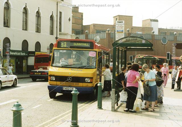 Mercedes City Rider Bus in Albert Street, Derby