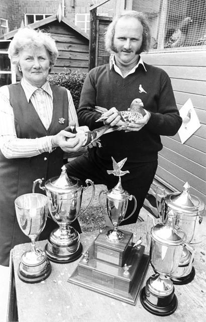 Mr Bennet, Racing Pigeon Fancier, Chaddesden, Derby, 1981
