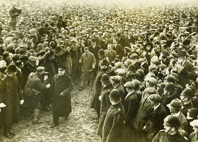 The Prince of Wales (later King Edward VIII) at the Ashbourne Royal Shrovetide Football Game, 1928