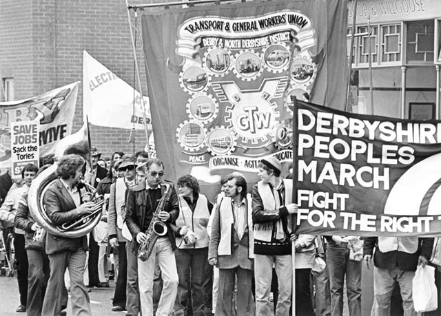 Transport and General Workers Union, Derby and North Derbyshire District, protest march