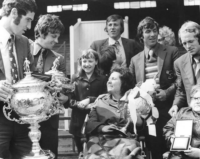 Derby County show off the League Championship trophy