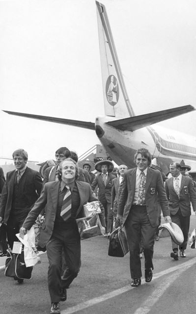 Derby County's Archie Gemmill, East Midlands Airport, 1972
