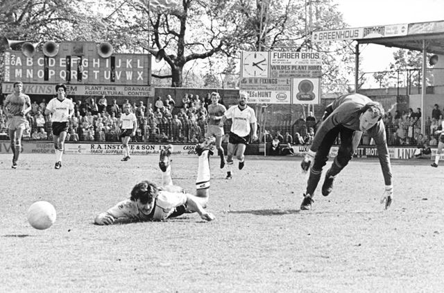 Derby County's Bobby Davison is Fouled in Match Against Shrewsbury Town, 1984