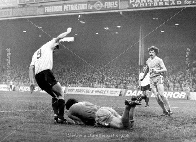 Derby County centre-forward John Duncan at Man City, Manchester, 1978