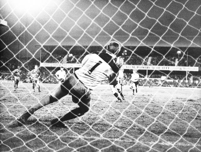 Derby County's John Gregory's penalty is saved