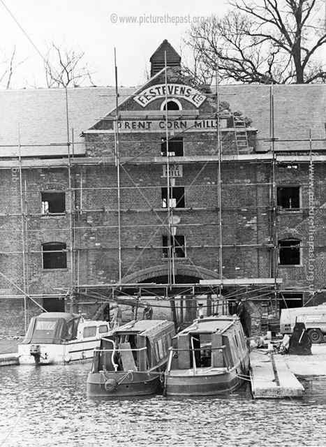 F E Stevens No 2 Trent Corn Mill (The Clock Warehouse) - during restoration