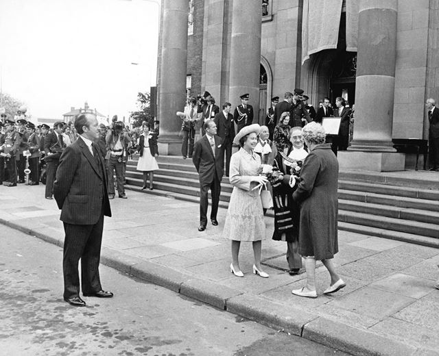 HRH Queen Elizabeth and Prince Philip, visit Derby during her Silver Jubilee