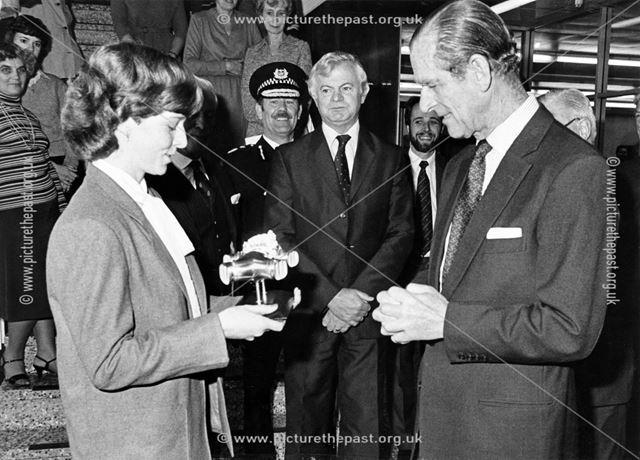 Prince Philip, The Duke of Edinburgh on his visit to Rolls-Royce