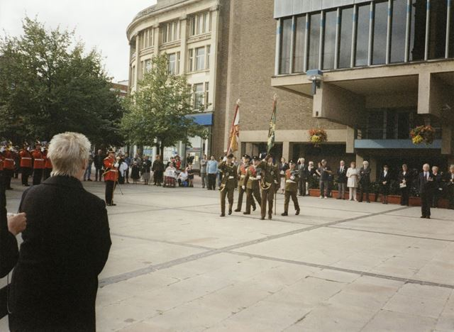 Worcestershire and Sherwood Foresters Colour Party