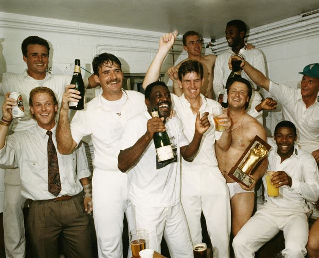 Derbyshire County Cricket Club - celebrations after winning the Sunday League V Essex