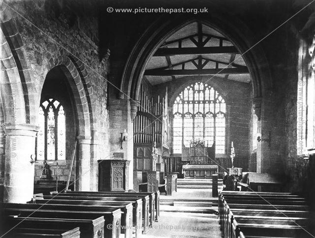 Interior of All Saints Parish Church, Moor Road, Breadsall, c 1900s-10s