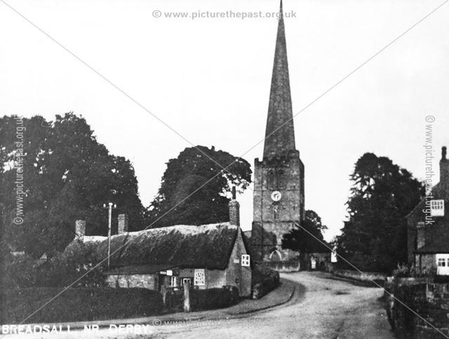 Breadsall Village from Moor Road, Breadsall, 1900s-1910s