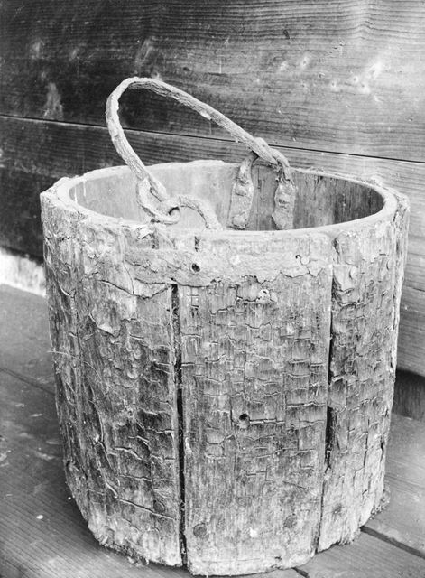 Wooden Bucket, Duffield, c 1900s