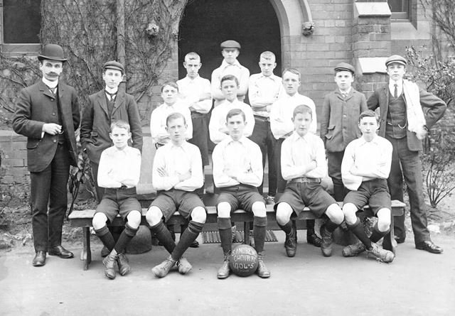 St Andrew's Church Choir Football Team, London Road, Derby, c 1904-5